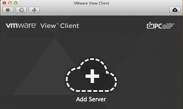 Add Connection Server to VMware View PCoIP for OSX client